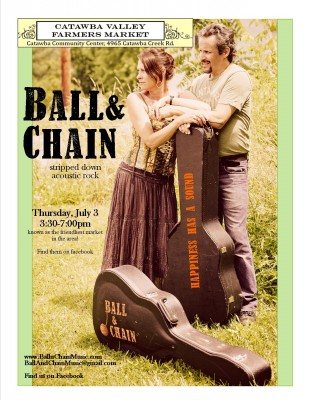 Ball & Chain will play amongst the produce and crafts